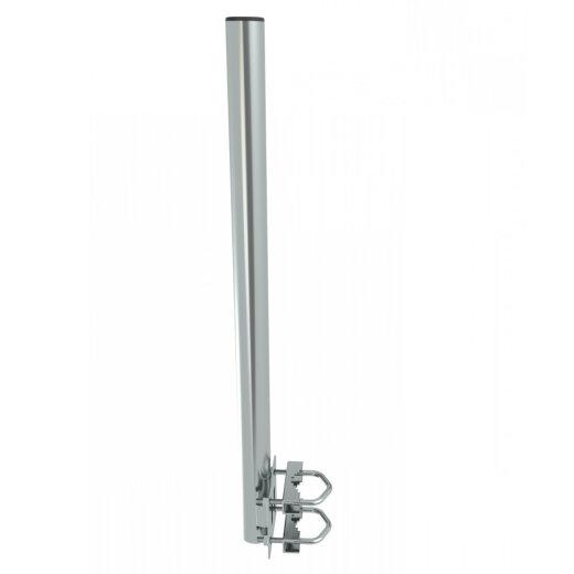 Antenna bracket, straight, galvanized, balcony / railing, 60cm