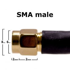 Window cable for 4G antenna, 40cm, SMA