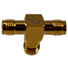 Coaxial adapter with RP-SMA socket to 2 x RP-SMA socket