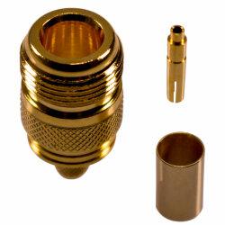 N socket in crimp version for H-155, RF-5, RF-240 cables