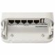 Bottom of OmniTik 5 with 5 RJ-45 ports and one usb port
