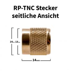 Side view of the RP-TNC connector