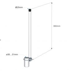 Interline HORIZON 7 2.4GHz Wi-Fi Omni antenna with 7dBi