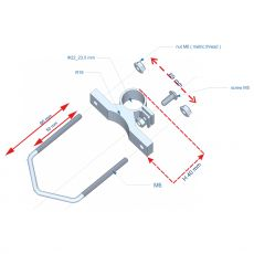 Construction drawing of the mounting bracket