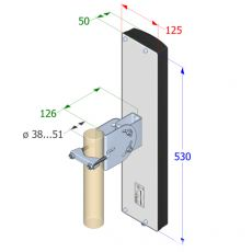 Interline SECTOR V90 - Technical drawing with dimensions