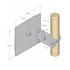 Interline PANEL 14 - directional antenna for 2.4GHz WiFi...