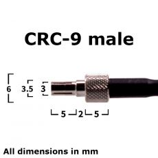 CRC-9 male connector - side view