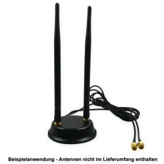Application example with two WiFi omnidirectional antennas