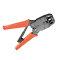 Robust LogiLink crimping tool for RJ45, RJ10, RJ11, RJ12, stripping function