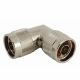 Coaxial Adapter N male to N male with 90 ° angle
