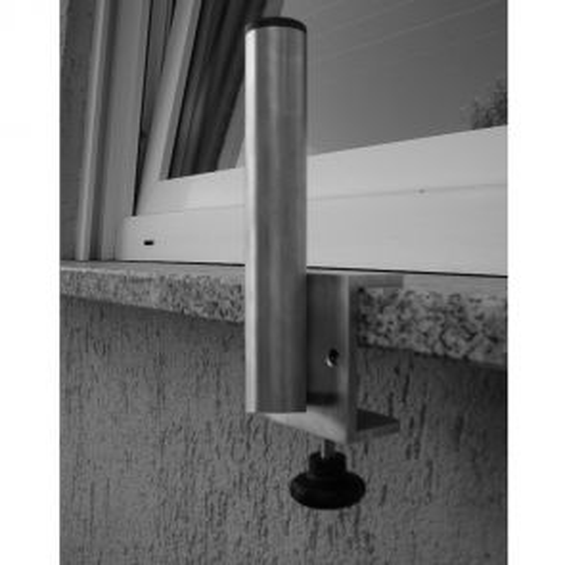 Antenna bracket for mounting on a windowsill, aluminum