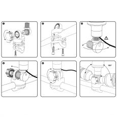 Illustrated installation instructions for the 2DSH
