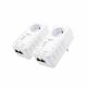 ALLNET ALL1681205 Double Pack - 2 x Powerline Adapter with AC Passthrough and HomePlug AV2 Standard