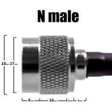 Detailed view of N male connector
