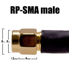 Detailed view of RPSMA male connector