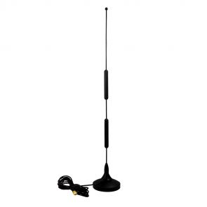 2G / 3G / 4G omnidirectional antenna with 12dBi gain, magnetic base with 2.5m cable and SMA connector