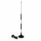12dBi 3G / 4G omnidirectional rod antenna with magnetic base, 2.5m cable and FME socket