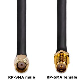 Antenna cable with connector description