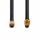 RF240 coaxial antenna cable / extension cable with RP-SMA plug to RP-SMA socket
