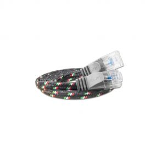 Justslim CAT.6 Netzwerkkabel / Patchkabel | TOUGH, UTP, 2 x RJ45, Nylon, Grau, 0.25m