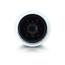 Frontal view of the bullet camera with lens and IR led