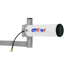Side view of the Cyberbajt YAGI 24-12 antenna with 0.25m cable and N socket