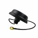 Black 2.4GHz WiFi ceiling antenna with a 30cm cable and RP-SMA connector
