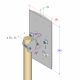 Technical drawing of the 2x2 MIMO sector WiFi antenna