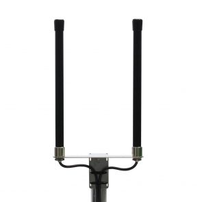 4G multiband omni antenna with 6.5dBi gain and 5meters cable with SMA plugs black
