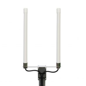 4G multiband 6,5dbi omni antenna in white housing with 5m cable and SMA plugs