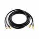 4G antenna extension cable, dual, 5m, SMA male plug to SMA female socket