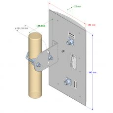 Technical drawing / dimensions of the antenna