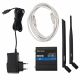 Scope of delivery of TELTONIKA RUT230, power supply, ethernet cable, 3g antenna and wifi antenna