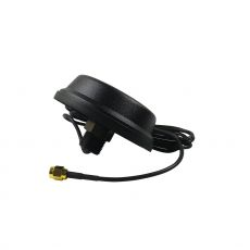Dual band ceiling antenna with black housing, 150cm cable and RP-SMA plug