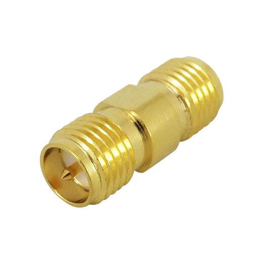 Coaxial adapter RP-SMA socket to RP-SMA socket