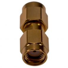 Coaxial adapter from RP-SMA plug to RP-SMA plug