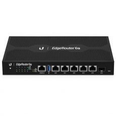 Front of the ER-6P with 5 x RJ45, 1 x SFP port