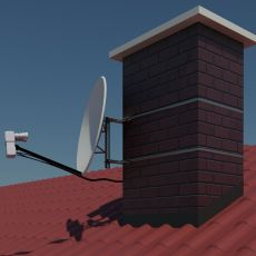 Application example on a chimney with a satellite dish