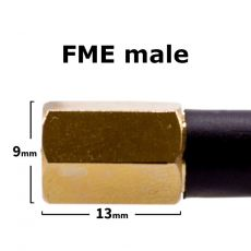 FME connector - side view with dimensions