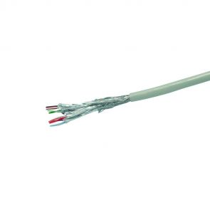 100m ring solid CAT.6 network installation cable - SFTP, AWG23, halogen-free, gray