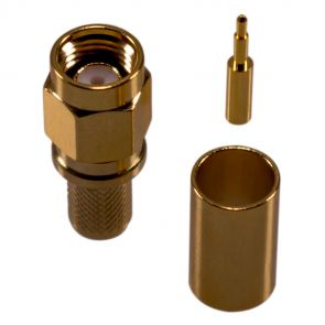 SMA crimp connector for H-155, RF-5, RF-240 cable