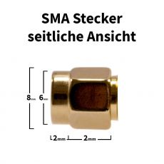 Side view of the SMA male crimp connector