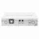 Back of the MikroTik CRS112-8P-4S-IN with DC-In sockets