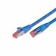 CAT.6 network cable, 0.5m, blue jacket