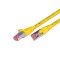 CAT.6 Ethernet cable, STP, 2 x RJ45, LSOH, 0.5m, yellow