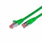 CAT.6 Ethernet cable, STP, 2 x RJ45, LSOH, 0.5m, green