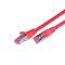 CAT.6 Ethernet cable, STP, 2 x RJ45, LSOH, 0.5m, red