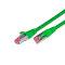 CAT.6 Ethernet cable, STP, 2 x RJ45, LSOH, 15m, green