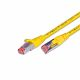 CAT.6 Ethernet Patch cable, STP, 2 x RJ45, LSOH Coating, 50 Meter, yelow