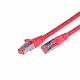 CAT.6 Ethernet Patch cable, STP, 2 x RJ45, LSOH Coating, 50 Meter, red